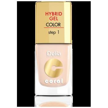 Delia Cosmetics Coral Hybrid Gel Emalia do paznokci nr 20 ivory 11ml