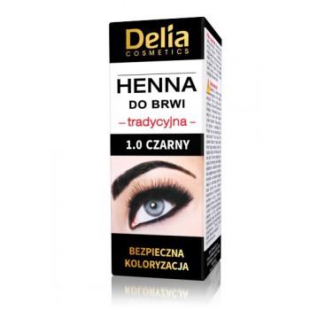 Delia Cosmetics Henna do brwi 1.0 Czarna  1szt