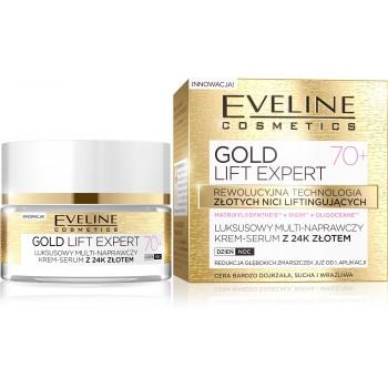 Eveline Gold Lift Expert 70+ Krem-serum multi-naprawczy na dzień i noc  50ml