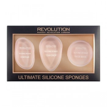 Makeup Revolution Applicators Gąbki silikonowe-zestaw Ultimate Silicone Sponges Set  1op.-3szt