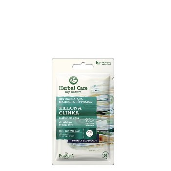 Farmona Herbal Care Maseczka oczyszczająca do twarzy Zielona Glinka  2 x 5ml