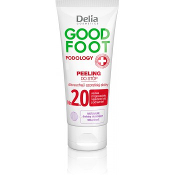 Delia Cosmetics Good Foot Podology Nr 2.0 Peeling do stóp dla skóry suchej i szorstkiej  60ml