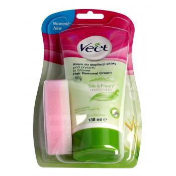 Veet Krem do depilacji skóry pod prysznic Silk & Fresh - skóra sucha  135ml