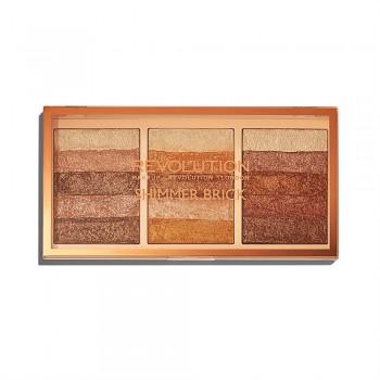 Makeup Revolution Rozświetlacz Mix Shimmer Brick Palette