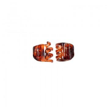 DONEGAL KLAMRA do włosów Mini bursztynowa (FA-5830) 1op.-2szt