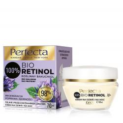 Perfecta 100% Bio Retinol 70+ Silnie Przeciwzmarszczkowy Krem na dzień i noc - regeneracja,poprawa jędrności 50ml