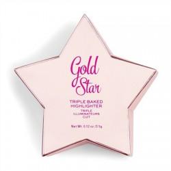 I Heart Revolution Star of the Show Rozświetlacz Gold Star 3.5g