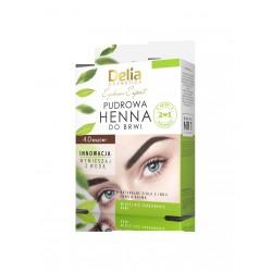Delia Cosmetics Henna do brwi pudrowa 4.0 brązowa 4g