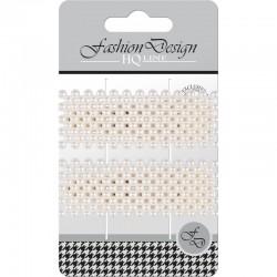 """Top Choice Fashion Design Spinki typu """"Pyk"""" perła biała (23828)  1op.-2szt"""