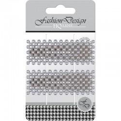 "Top Choice Fashion Design Spinki typu ""Pyk"" perła srebrna (23842)  1op.-2szt"