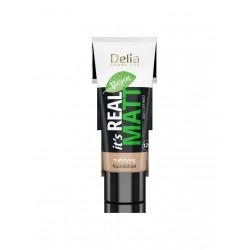 Delia Cosmetics It's Real Matt Podkład matujący odżywczo-nawilżający nr 104 Sand 30ml