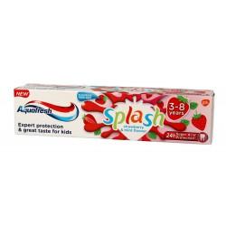 Aquafresh Pasta do zębów dla dzieci Splash 3-8 lat truskawkowo-miętowy smak  50ml
