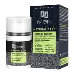 AA Men Natural Care Krem do twarzy przeciwzmarszczkowy 50ml
