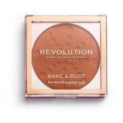 Makeup Revolution Bake & Blot Puder prasowany Orange 5.5g