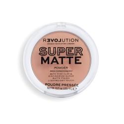 Makeup Revolution Super Matte Pressed Powder Puder matujący - Medium Tan 6g