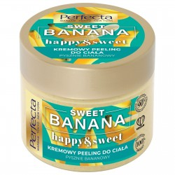 Perfecta Sweet Banana Kremowy Peeling do ciała - gruboziarnisty  300g