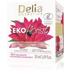 Delia Cosmetics Eko Florist Kwiat Lotosu Maska do twarzy wygładzająco - odżywcza 50ml