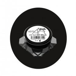 SEMILAC Semi Art UV Lakier żelowy do zdobień 001 black  5ml