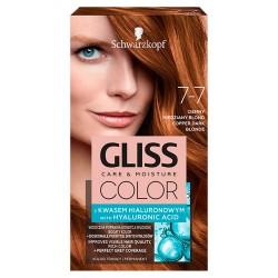 Schwarzkopf Gliss Color Krem koloryzujący nr 7-7 Ciemny Miedziany Blond 1op.