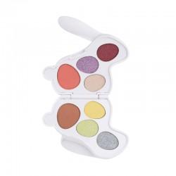 I Heart Revolution Bunny Shadow Palette Paletka cieni do powiek (8) Fluffy - królik biały 1szt
