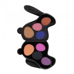I Heart Revolution Bunny Shadow Palette Paletka cieni do powiek (8) Liquorice - królik czarny  1szt
