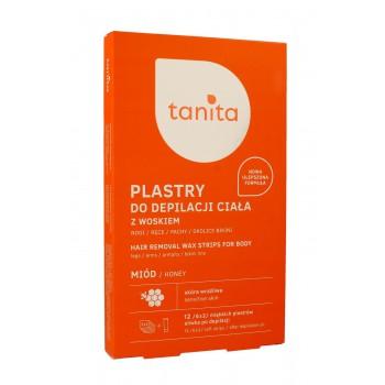 Tanita Plastry do depilacji ciała z woskiem Miód  1 op.-12szt