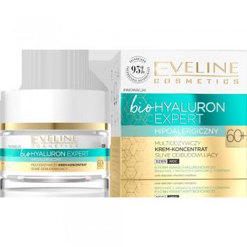 Eveline Bio Hyaluron Expert 60+ Multiodżywczy Krem-koncentrat silnie odbudowujący na dzień i noc  50ml