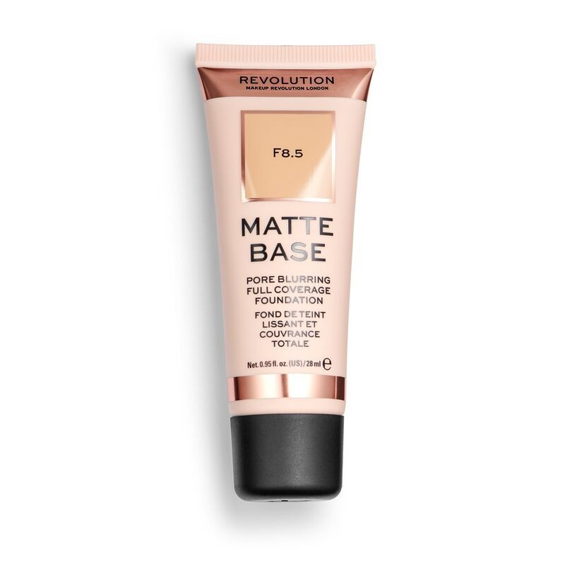 Makeup Revolution Podkład matujący do twarzy Matte Base Foundation F8.5  28 ml